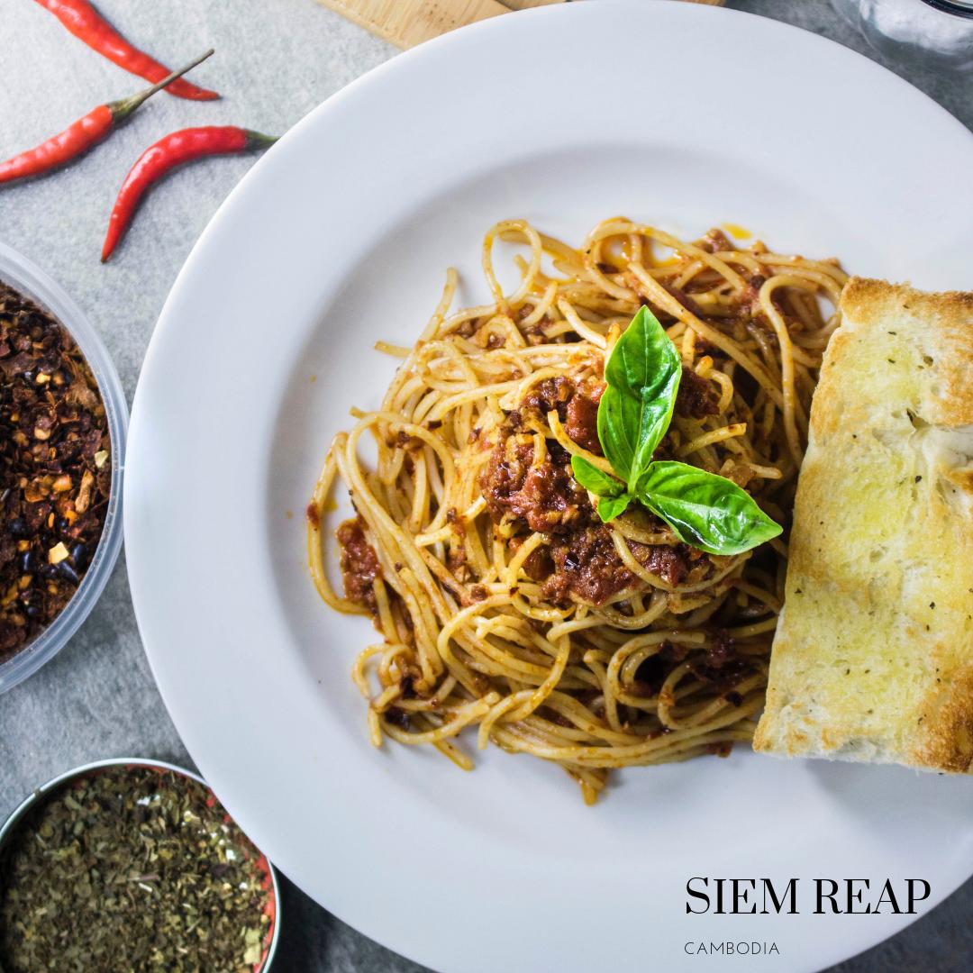 Gluten free pasta sauce in Siem Reap