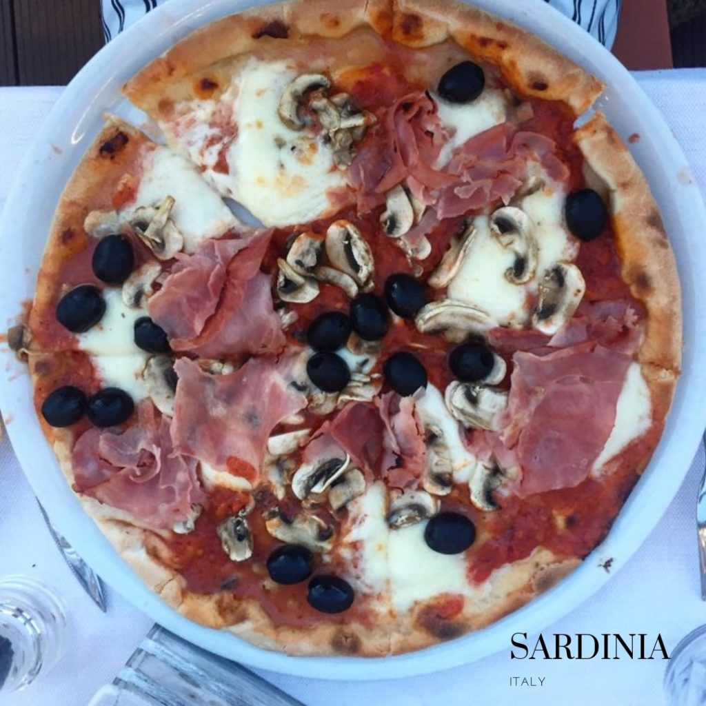Gluten free pizza Sardinia Porto Rotonto