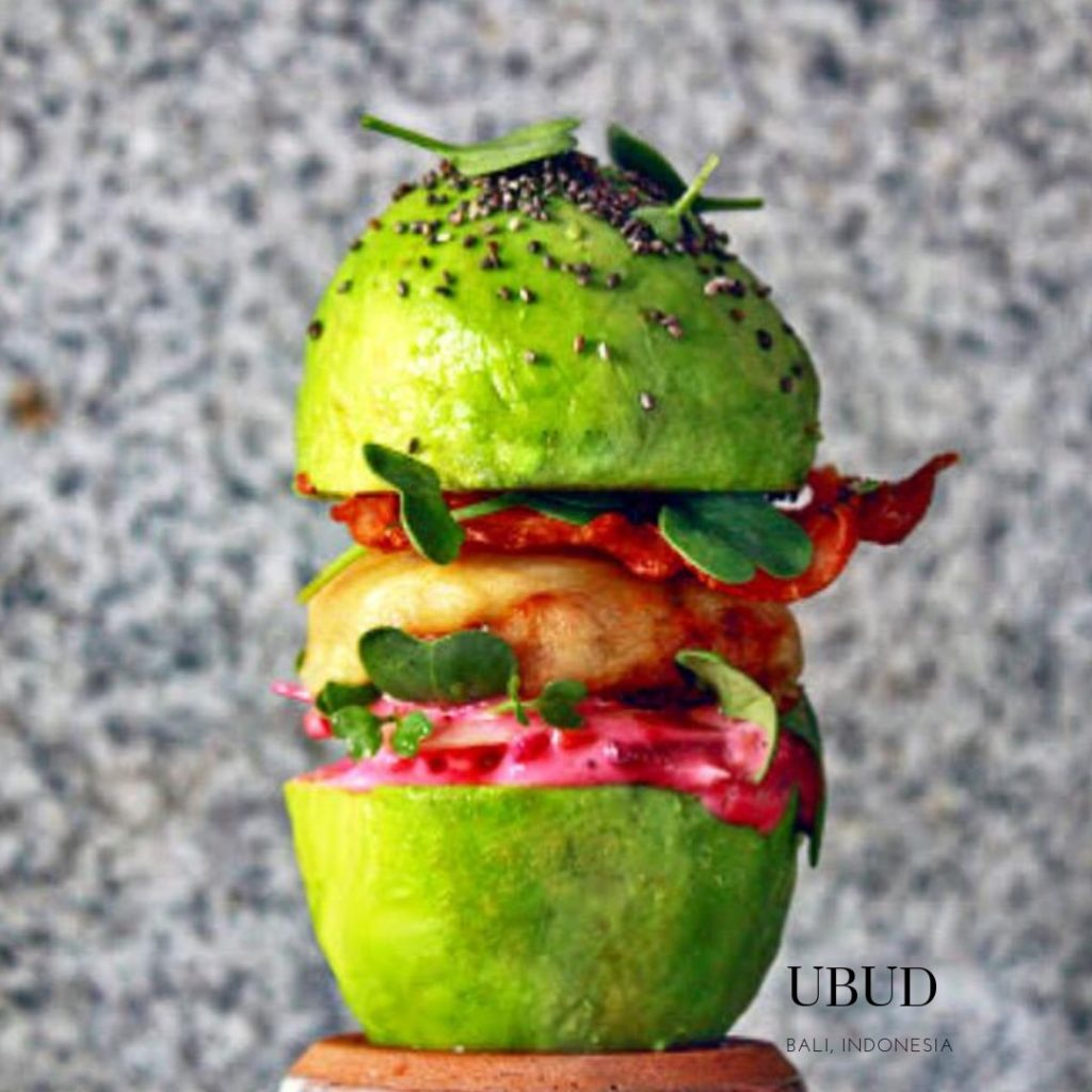 Gluten free avocado burger