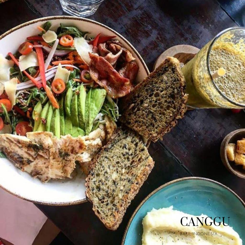 Cinta cafe gluten free salad: gluten free place in Canggu