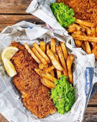 Fish & chips sans gluten