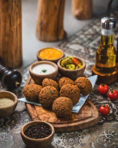 vegan & gluten free falafels
