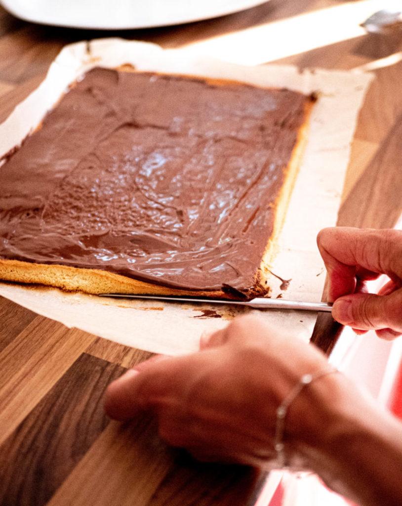Roulé au chocolat étape 5